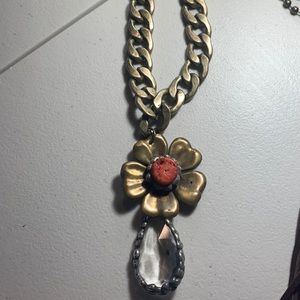 Playful custom made by hand necklace